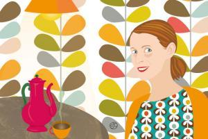 A Coffee With Orla Kiely | Stefania Tomasich Illustration | CrunchTales