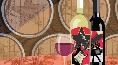 Celebrity Wines That Rock | Stefania Tomasich Illustration | CrunchyTales