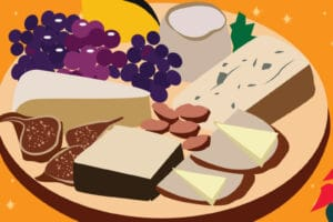Christmas Cheese Plate | CrunchyTales