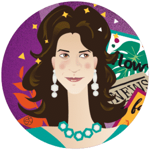 Michela Di Carlo Portrait | Stefania Tomasich illustration | CrunchyTales