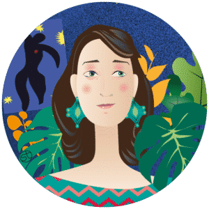 Stefania Tomasich Portrait | Stefania Tomasich illustration | CrunchyTales