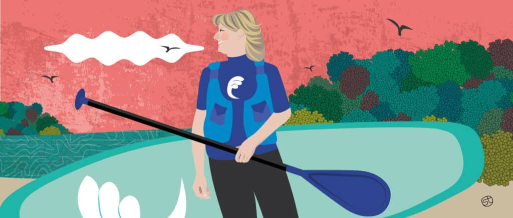 """Jo Moseley: How Paddleboarding Gave Me Purpose In Midlife"""" is locked Jo Moseley: How Paddleboarding G Jo Moseley Paddleboarding In Midlife 