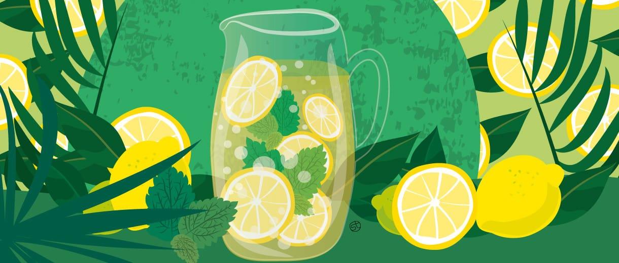 Lemonade Illustration By Stefania Tomasich For CrunchyTales.com