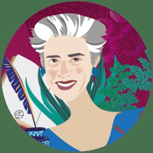 Lorenza Bacino Portrait | Stefania Tomasich illustration | Crunchy Tales