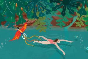 Wild Swimming Illustration | CrunchyTales Stefania Tomasich