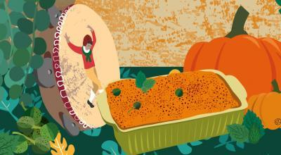 Calabrese Pumpkin With Mint And Capers | CrunchyTales Stefania Tomasich