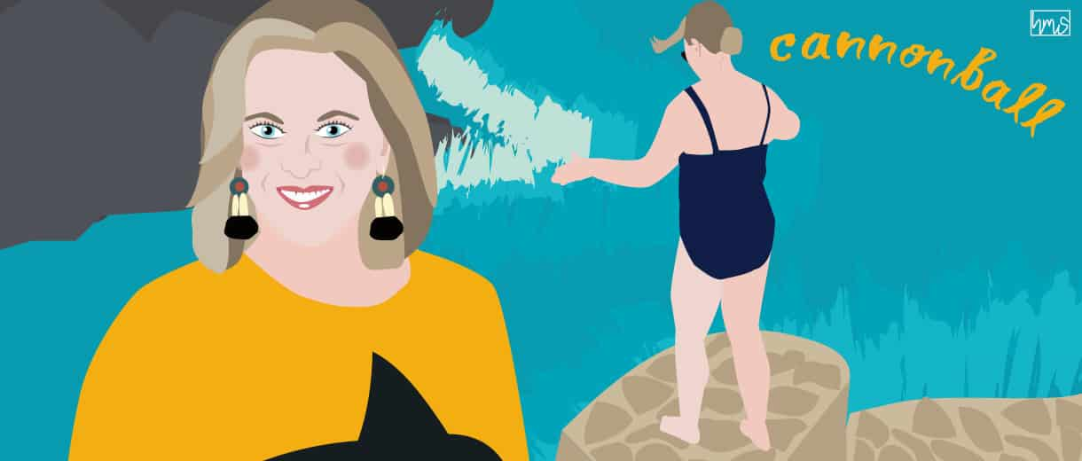 """Amy Schmidt: """"Cannonballing With Confidence At Midlife"""""""
